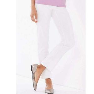 J.Jill Essential cotton-stretch white pants